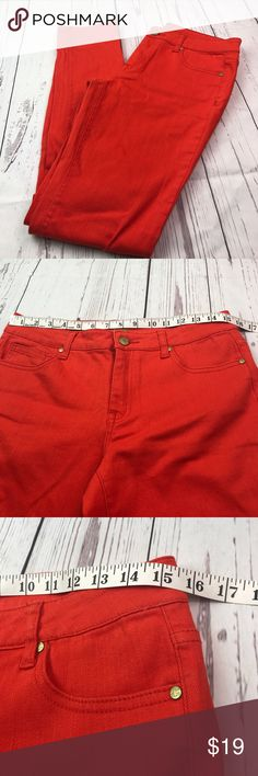 C Wonder orange skinny jeans size 29 In excellent preowned condition. See measurements and material content in photos. Really nice deep orange 🍊 beautiful color. Has nice stretch to them. C. Wonder Jeans Skinny