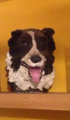 Our faithful friend. Holly.( sculptured in clay )