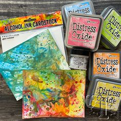 the most important part of the creative process is allowing yourself to explore possibilities without expectation. Distress Ink Techniques, Embossing Techniques, Alcohol Ink Crafts, Alcohol Markers, Alcohol Inks, Scrapbook Storage, Art Journal Tutorial, Anna Griffin Cards, Distress Oxide Ink