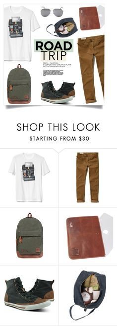 """""""Rev It Up: Men's Road Trip Style"""" by mahafromkailash ❤ liked on Polyvore featuring Gap, Hollister Co., Burnetie, Yves Saint Laurent, men's fashion, menswear, Leather, roadtrip, giftsforhim and mahileather"""