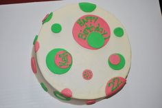 My Niece ask me to make her a polka dot cake for her bitrhday