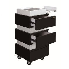 Amazon.com : SALON ROLLING TROLLEY ALL PURPOSE BEAUTY SALON WOODEN TOOL CART WITH DRYER HOLDER - TATA : Hair Dryers : Beauty