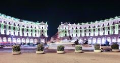 Rome Piazza Esedra magnificent at night.
