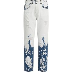 Gucci Bleached mid-rise boyfriend jeans (13,305 MXN) ❤ liked on Polyvore featuring jeans, pants, bottoms, gucci, denim, white ripped boyfriend jeans, vintage boyfriend jeans, white boyfriend jeans, ripped boyfriend jeans and ripped denim jeans
