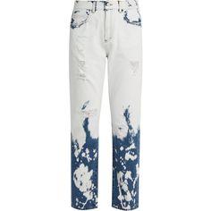 Gucci Bleached mid-rise boyfriend jeans (850,040 KRW) ❤ liked on Polyvore featuring jeans, pants, bottoms, denim, gucci, destroyed boyfriend jeans, ripped denim jeans, white jeans, white ripped jeans and white distressed boyfriend jeans