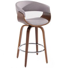 Holt Mid Century Grey Fabric 26-inch Counter Stool | Overstock.com Shopping - The Best Deals on Bar Stools