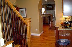 puritan pine on floor and newel Future House, Stairs, Flooring, Living Room, Interior Design, Wood, Pine, Design Ideas, Google Search