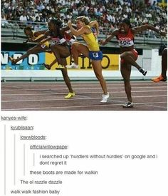 It's soooo funny to me because I'm a hurdler I would look like this without the hurdles omg Funny Cute, Really Funny, Hilarious, Humor Mexicano, Amor Humor, Making My Way Downtown, Funny Tumblr Posts, Stupid Funny Memes, Jokes