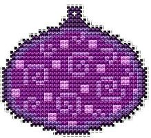 Christmas decorations, free cross stitch patterns and charts - www.free-cross-stitch.rucniprace.cz