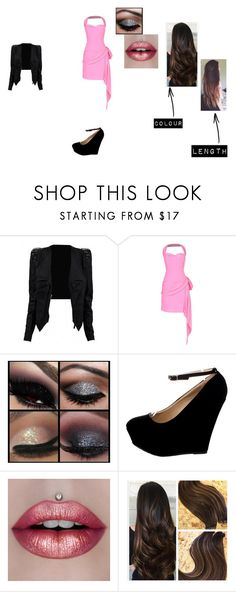 """""""Pink dress"""" by zombie-unicorn246 on Polyvore featuring Moschino"""