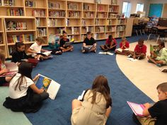 Books were pulled from different shelves in the library for… School Library Lessons, Library Lesson Plans, Elementary School Library, Education Quotes For Teachers, Education College, Elementary Education, Library Books, Reading Books, Library Ideas