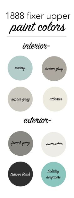 1888 fixer upper interior and exterior paint colors