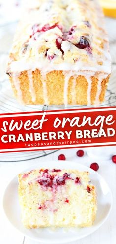 Not only is this bread festive and perfect for the holiday season, but it is delicious! Orange Cranberry Bread starts with a sweet orange quick bread dotted with fresh cranberries and drizzled with an orange glaze. This tasty breakfast idea is the perfect gift for the holidays!