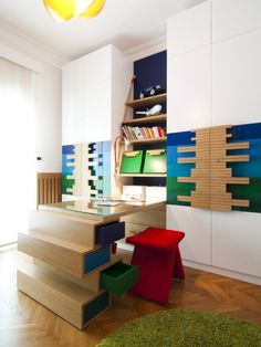 Such an innovative idea for a desk & hardware.  Kids Design, Pictures, Remodel, Decor and Ideas - page 24