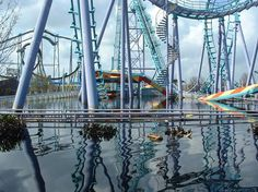 Six Flags New Orleans. It closed in 2005 for Hurricane Katrina and never reopened. This is why.