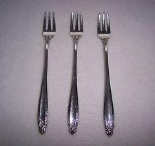 Vintage Set 3 Pc. International Sterling Silver Flatware Prelude Seafood Forks