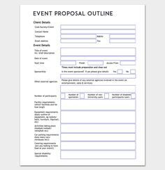Event Proposal Outline Template Word Doc Planning Checklist Business Party