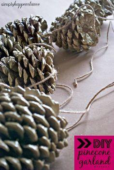 DIY Pinecone Garland Nov 22 2013 DIY Pinecone Garland http://www.simplyhappenstance.com/diy-pinecone-garland/