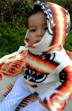 Native American Baby Fleece Jacket by SheLahNanabahDesigns on Etsy, $65.00