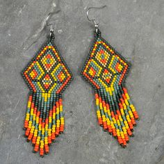 Native American Seed Beading Patterns http://www.etsy.com/listing/112095367/colorful-native-american-style-seed-bead