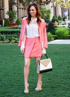 Sydne of Sydne Style in Bebe s Debbie blazer and skirt Skirt Suit 57b6cb7f8