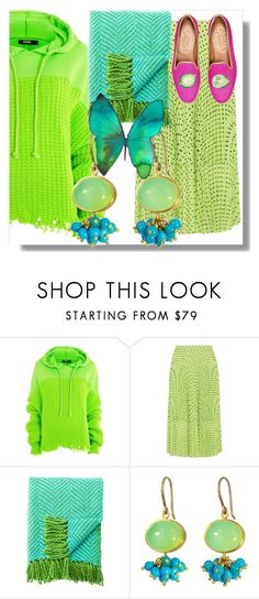 """""""hoodie style"""" by sixtystyle on Polyvore featuring Jaded, Markus Lupfer, Kate Spade, Mallary Marks, Pink, lime and turquoise"""