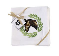 Perfect for a dinner party - Horse Head Cocktail Napkins #KeenelandStyle
