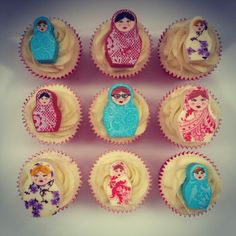 Chocolate Russian Doll Cupcakes - Beanie's Bakery