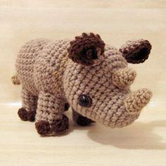 Little Rhylie the Rhino amigurumi crochet pattern by Sweet N' Cute Creations