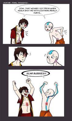 Scar Buddies!  Avatar  Zuko and Aang<3