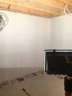 Primed the new basement room sheetrock 10/5 85b