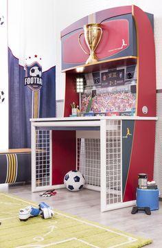 Cilek Football Schreibtisch mit Aufsatz I - Kostenloser Versand innerhalb Deutschlands! - Dieser Schreibtisch bietet einfach alles und noch viel mehr. Stiftablagefächer, ein großer Schubkasten mit... #schreibtische #kinder #cilek