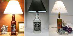 Em vez de jogar garrafas de vidros fora, que tal transformá-las em um abajur criativo e estiloso?