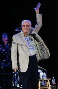 GEORGE JONES once dedicated a concert to my daughter who's name is Georgie...not named after him of course, but she loved his song White Lightening.  She was maybe 5 at the time.  He said her name and had a spot light put on her during the dedication.  He also sent her an autographed picture written just to her.  It was very sweet and unexpected!  Something she hasn't yet forgotten.  Thanks George!