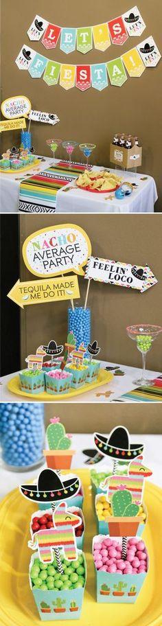 Mexican Fiesta for Cinco de Mayo - May 5th Party Ideas