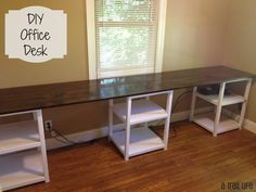 Stylish A Long Desk long desk for two office desks for two the most jywjsqr Diy Office Desk, Home Office Desks, Diy Desk, Office Furniture, Diy Furniture, Furniture Vintage, Furniture Design, Kids Workspace, Furniture Dolly