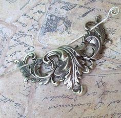 Silver Victorian Shawl Pin