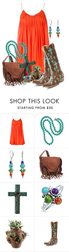 """""""Cowboy Boots go with Everything"""" by kimzarad1 ❤ liked on Polyvore featuring STELLA McCARTNEY, Bling Jewelry and Old Gringo"""