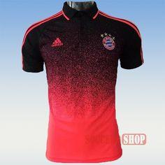 d274420235af9 Classic Newest Mens Orange/Black Bayern Polo Shirts Slim Fit Thailand  Online 2017-2018