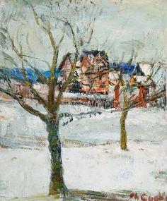 TREES IN ART • L'ARBRE DANS L'ART | Philibert Cockx (Belgian, 1879-1949), Maison dans...