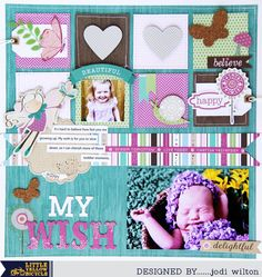 Little Yellow Bicycle: Little Girl Layout With Cycling Team Member Jodi Wilton Pregnancy Scrapbook, Little Yellow Bicycle, Fern Forest, Scrapbook Pages, Scrapbooking, Scrapbook Layouts, Forest Girl, 4 Kids, Children
