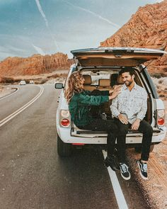 camping in the west USA with a hatchback themed engagement photos Cute Relationship Goals, Cute Relationships, Photo Recreation, Photo Checks, How To Pose, Camping, Couple Posing, Travel Couple, Couple Pictures