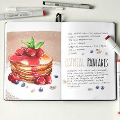 Oatmeal_pancakes | by Anna Rastorgueva