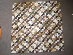 leaders and enders scrappy quilt  all four patched or half square triangles
