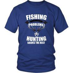 ⭐⭐⭐⭐⭐ 🔥 Fishing and Hunting Problems T Shirt for just $24.99 Free Shipping! 🚚 ➤ Single Rib, 30 And Single, Unisex, Mens Tops, T Shirt, Supreme T Shirt, Tee, Tee Shirt