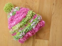 Ideas for small bits of hand spun. Toddler Hat Photo Prop Beanie Photography Handspun Yarn by TrickyKnits Tricky Knits