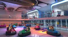 Royal Caribbean pulls out all the stops to lure customers back off dry land | Mail Online. Bumper cars on a ship !!!!!