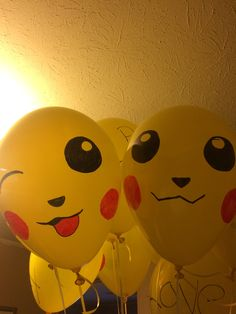 Could not find any Pokemon balloons so I made my own pikachu