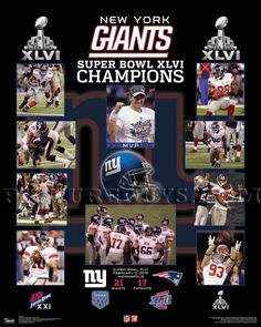 New York Giants Super Bowl 46 Championship Picture Plaque #NewYorkGiants