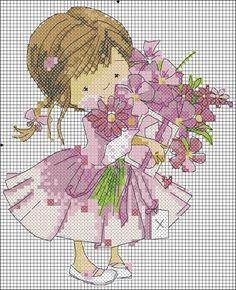 Fillette pour la fête des Mamans http://Vérob.centerblog.net